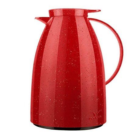 Bule Térmico Viena Ceramic Vermelho c/Gatilho 1L - Invicta