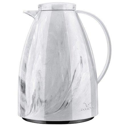 Bule Térmico Viena Marmore Carrara Branco 750 ml - Invicta