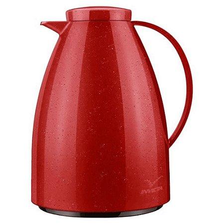 Bule Térmico Viena Vermelho Ceramic 750 ml - Invicta