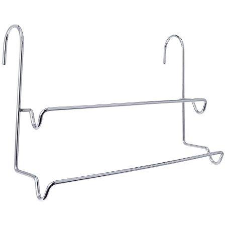 Porta Toalhas Duplo em Aço Cromado Premium – Arthi