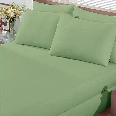 Lençol Avulso King Verde com Elástico - Premium Plus