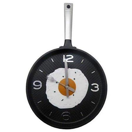 Relógio de Parede de Frigideira Prata 25 cm – IMPORIENTE