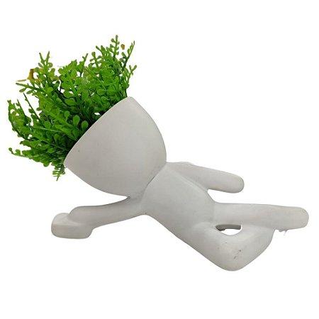 Vaso Decorativo Bob Branco P/Parede c/Planta 12 cm – AMIGOLD