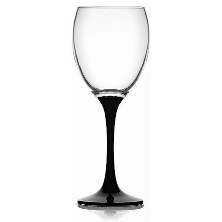Jogo de 6 Taças p/Vinho Venue Black em Vidro 340ml - YAZI