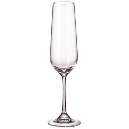 Jogo de 6 Taças em Cristal p/Champagne Strix 200ml Full Fit