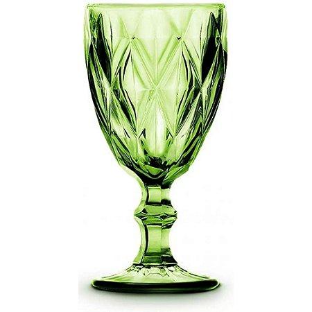 Jogo de 6 Taças em Vidro para Água Vitral Verre 320ml Verde