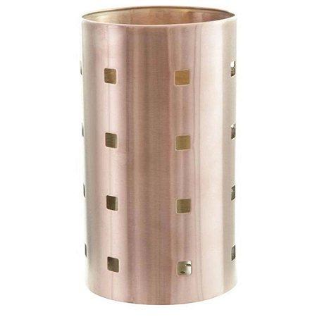 Porta Utensílios Vazado em Aço 17 cm Bronze - Mimo Style