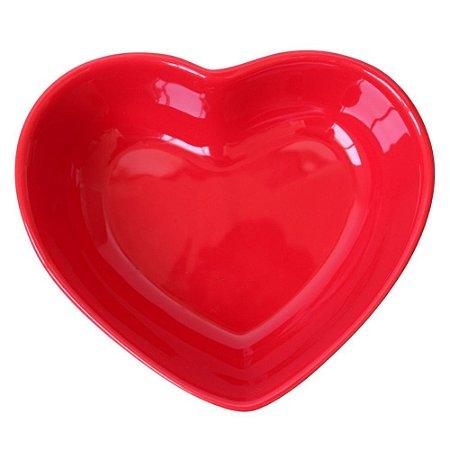 Bowl Coração em Cerâmica 18x16cm vermelho – Silveira