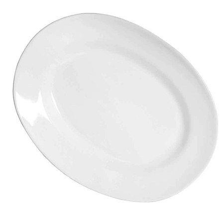 Travessa Milão em Cerâmica Oval 38 cm Branco – Porto Seguro