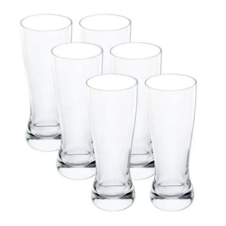 Jogo de 6 Copos para Cerveja em Cristal  210ml - Full Fit