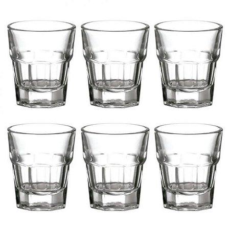 Jogo de 6 copo 45 ml  para shot em Vidro - Full Fit