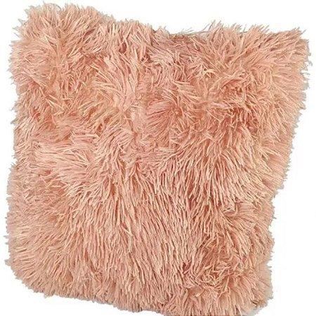 Capa de Almofada Peluda  Rosê - Fwb