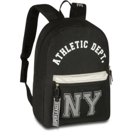 Mochila Athletic New York Poliéster 48cm Preto - Clio Sport