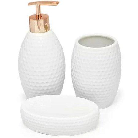 kit banheiro 3 peças porcelana branco - Amigold