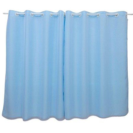 Cortina Blackout Duo Colors Voil com Ilhós 4x2,7m Azul