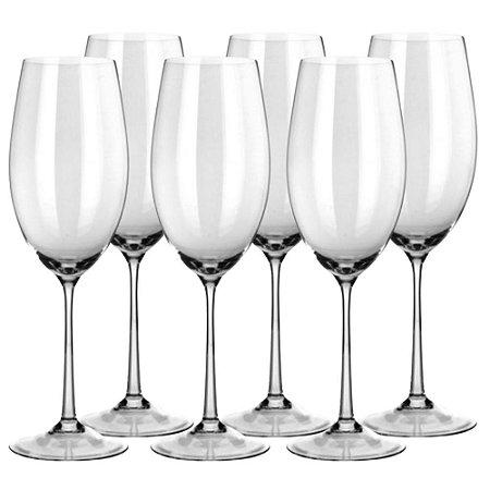 Conjunto 6 Taças Vinho Cristal Twiggy Branco 460ml - Banquet
