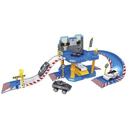 Pista de Carrinhos Oficina Polícia de Elite - Unik Toys