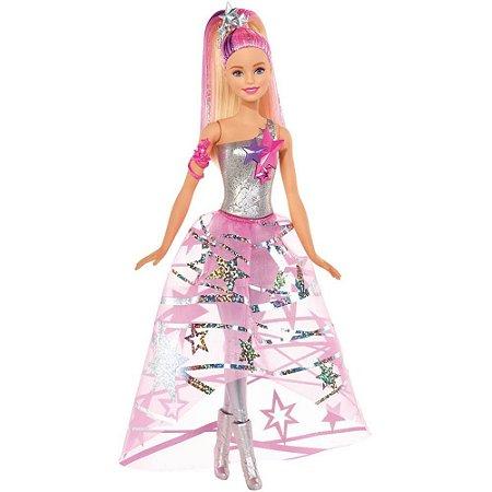 Boneca Barbie Vestido Galáctico Aventura Estrelas - Mattel