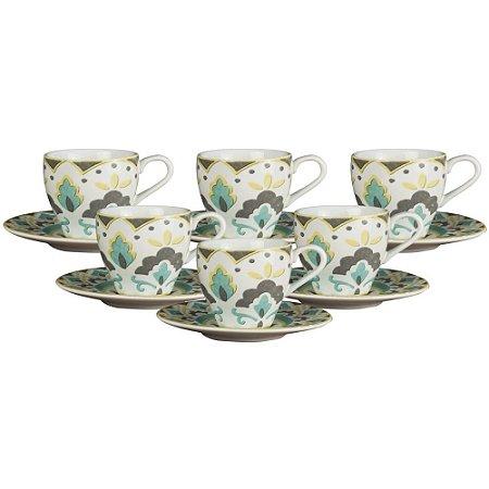 Jogo P/ Café Morlac em Porcelana 12 peças 75ml - L'Hermitage