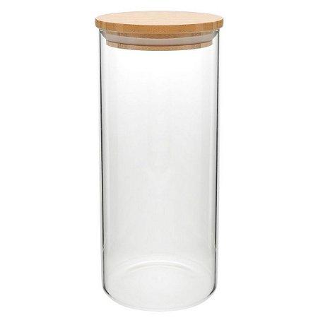 Porta Mantimento em Vidro com Tampa em Bamboo 1,4 L Full Fit