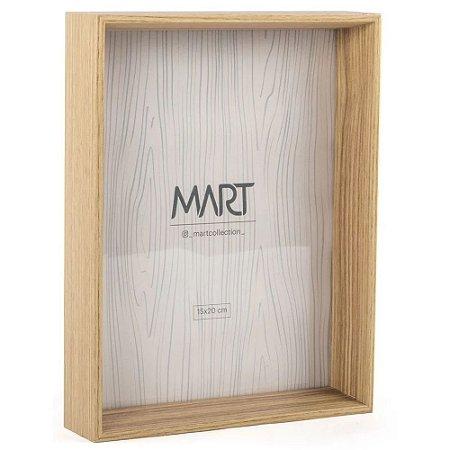 Porta Retrato Natural em MDF 15x20 cm Madeira - Mart