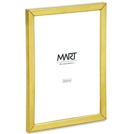 Porta Retrato em Metal e Vidro 20x25 cm Dourado - Mart