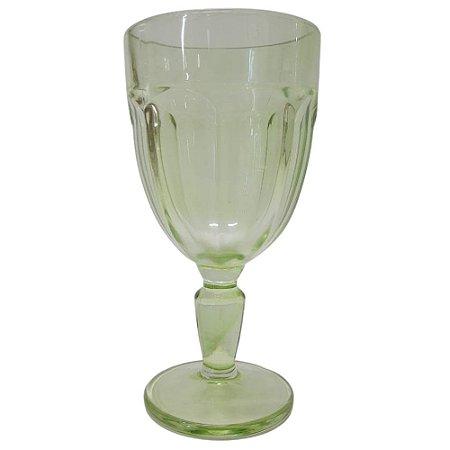 Jogo de Taças Cream Glass c/6 Pcs em Vidro 310ml Verde Claro