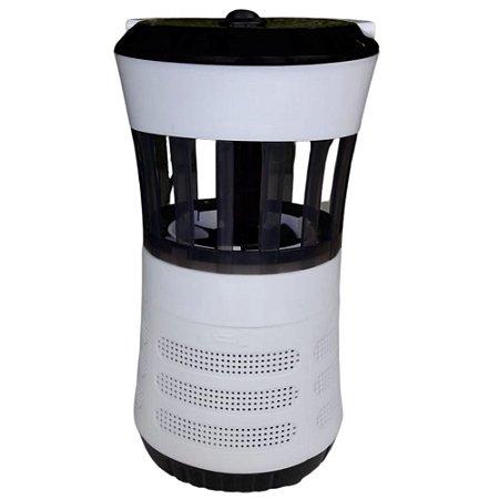 Luminária Preta LED Armadilha para Mosquitos Ventoinha - Fix