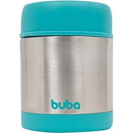 Pote Térmico p/Refeição Infantil Aço Inox 350ml Azul - Buba