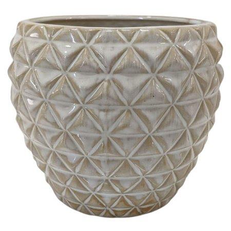Vaso Decorativo em Porcelana 12 cm Areia – Imporiente