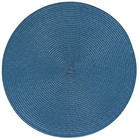Kit Jogo Americano Luna Bluestone 6 Peças Redondo 38 cm Azul