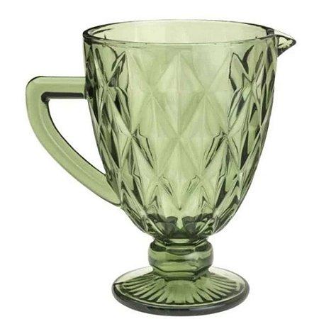 Jarra Diamond para Água em Vidro 1L Verde - Gira