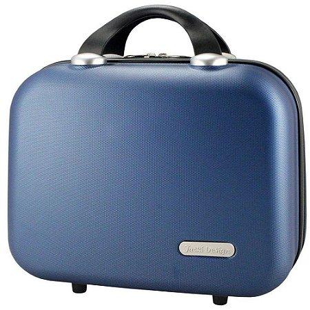 Frasqueira Executiva para Viagem em ABS Azul Jack Design