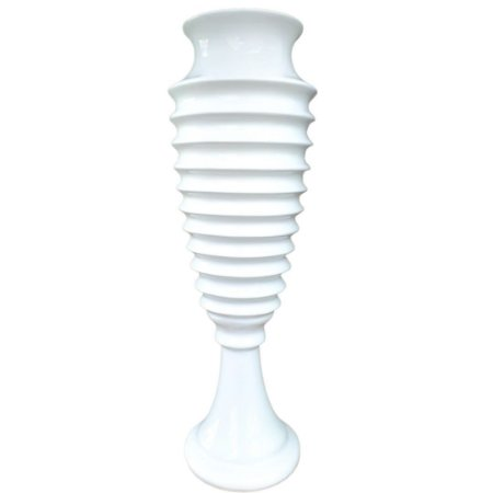 Vaso Decorativo Alto em Cerâmica 37cm Branco – Ana Maria