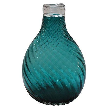 Vaso Decorativo em Vidro Verde Água 30cm