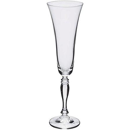 Jogo de Taças para Champagne Asio Bohemia em Cristal 190ml