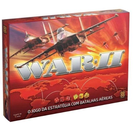 Jogo de Tabuleiro War II Ação e Estratégia - Grow