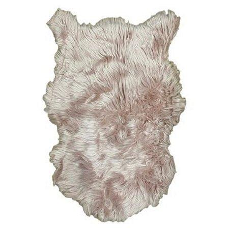 Tapete Decorativo Pelego de Pelúcia Alta 58x88cm Rosa – FWB