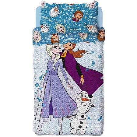 Colcha Bouti Solteiro Frozen 2pçs Dupla Face - Hiper Têxtil