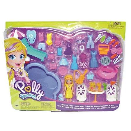 Conjunto de Moda Pool Party Polly Pocket – Mattel