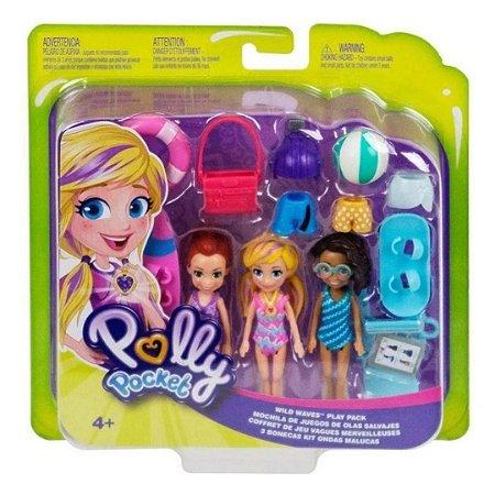 Conjunto de 3 Bonecas Polly Pocket Moda Praia – Mattel