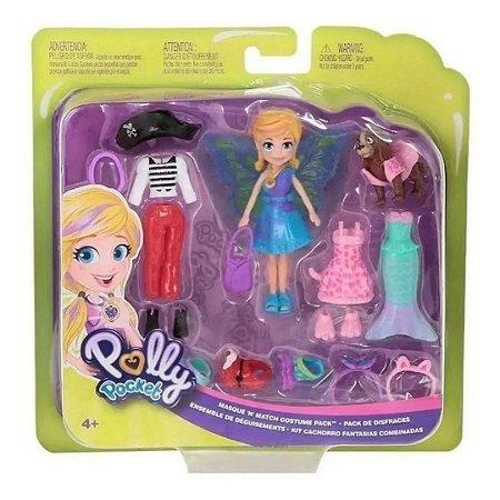 Kit Polly Pocket e Cachorrinho Fantasias Combinadas – Mattel