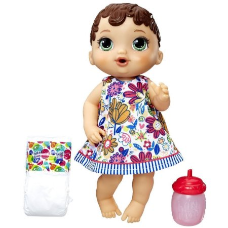 Boneca Baby Alive Morena Hora do Xixi 30cm - Hasbro