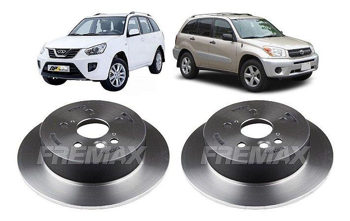 Disco Freio Traseiro Chery Tiggo 2006 A 2015 Toyota Rav 4 2001 a 2005 - Par