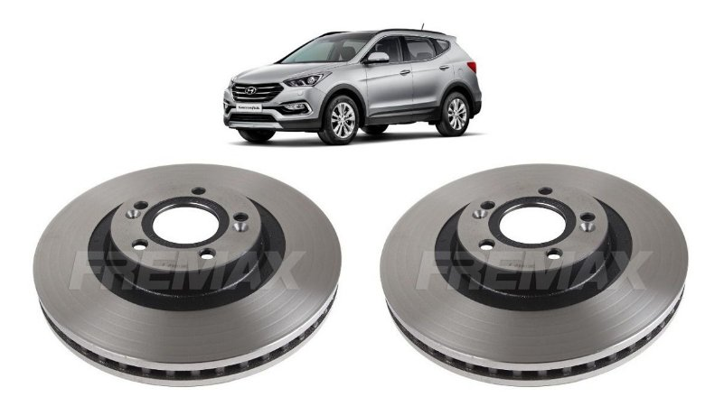 Disco Freio Dianteiro Hyundai Santa Fé 3.3 2013 A 2019 - Par