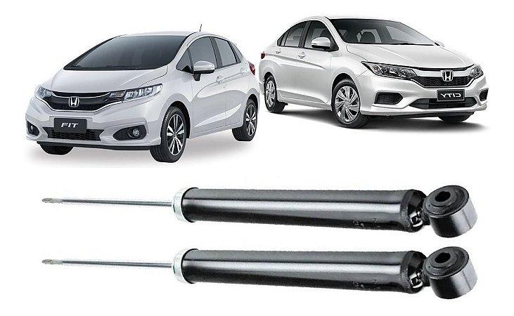 Amortecedor Traseiro Honda Fit City 2014 A 2019 - Par