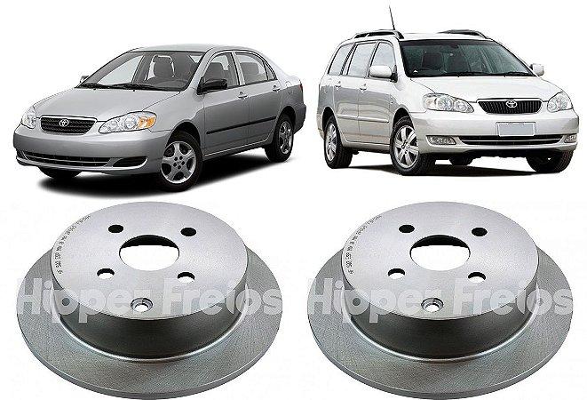 Disco Freio Traseiro Corolla Fielder 1.6 1.8 2003 a 2008 Par