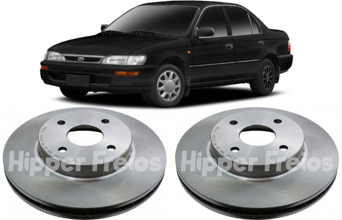 Disco Freio Dianteiro Toyota Corolla 1.6 1.8 16v 1991 a 2002