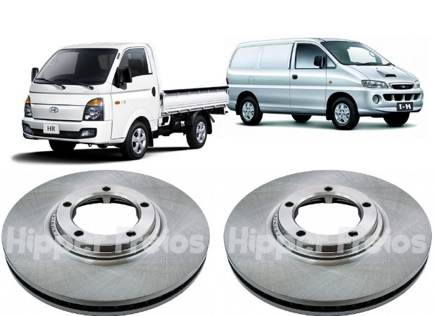 Disco Freio Dianteiro Hyundai H1 Hr 2.4 Starex 2.5 2003-2018