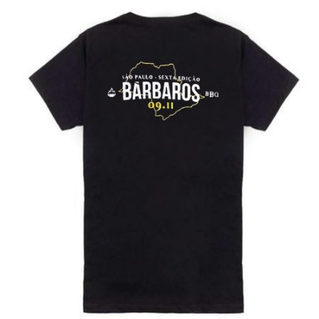 Camiseta Bárbaros BBQ São Paulo Preta